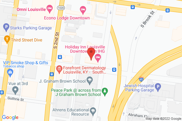Mapped location of Holiday Inn Louisville Downtown