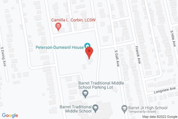 Mapped location of Peterson-Dumesnil House