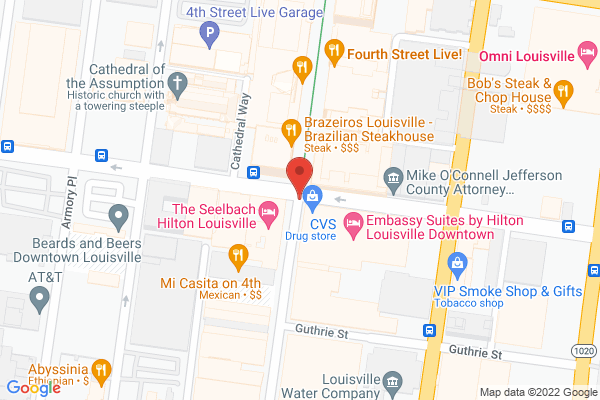 Mapped location of Embassy Suites by Hilton Louisville Downtown