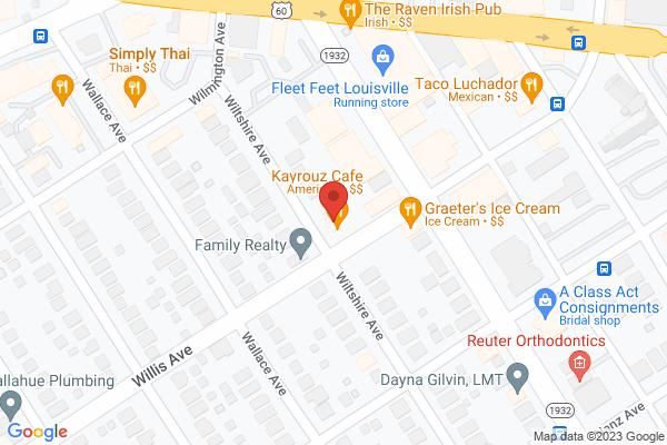 Mapped location of Kayrouz Café