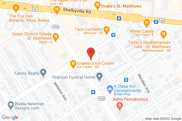 Mapped location of Nanz & Kraft Florists