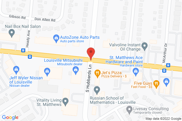 Mapped location of Jets Pizza