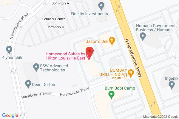 Mapped location of Homewood Suites by Hilton Louisville-East
