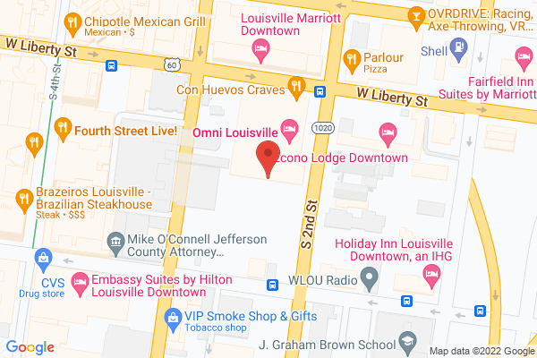 Mapped location of Omni Louisville Hotel