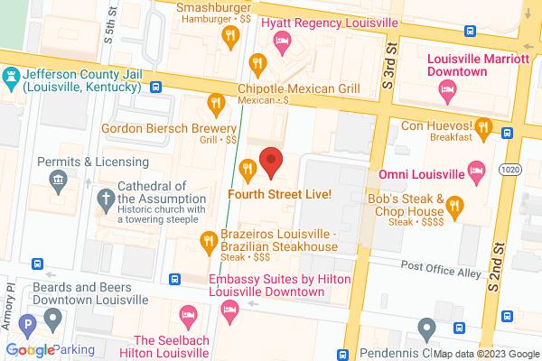 Mapped location of TGI Fridays