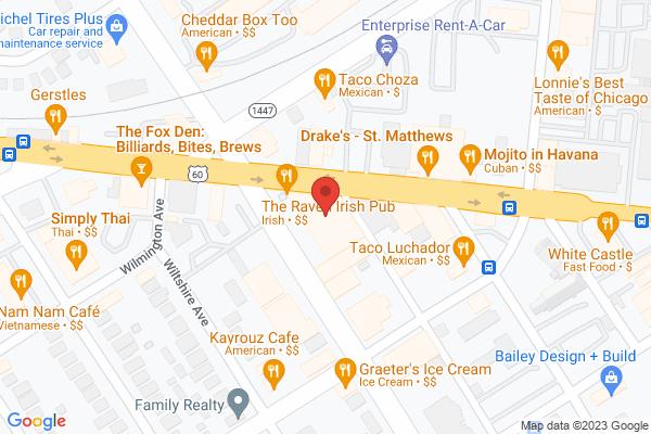 Mapped location of Molly Malone's Irish Pub St. Matthews