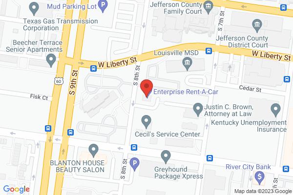 Mapped location of Enterprise Rent-a-Car