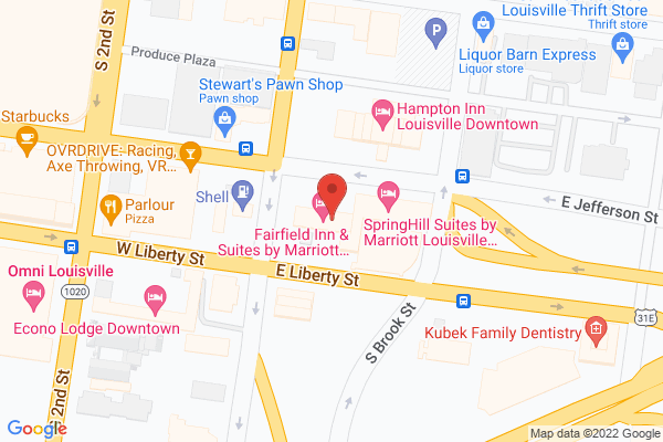 Mapped location of Fairfield Inn & Suites by Marriott Louisville Downtown