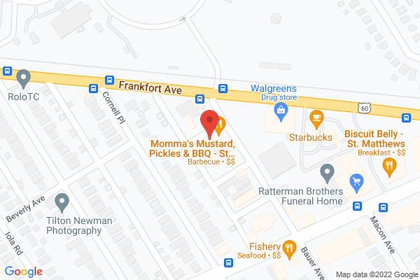 Mapped location of Momma's Mustard Pickles & BBQ Clifton & Cresent Hill