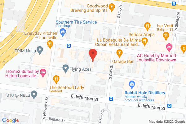 Mapped location of Muth's Candies