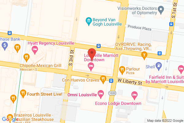 Mapped location of Louisville Marriott Downtown