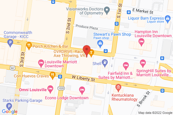 Mapped location of Bourbon Hall