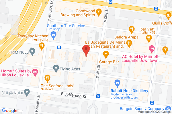 Mapped location of Louisville Cream