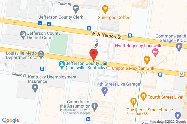 Mapped location of Megabus