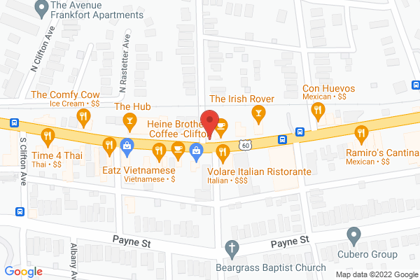Mapped location of Vint Coffee