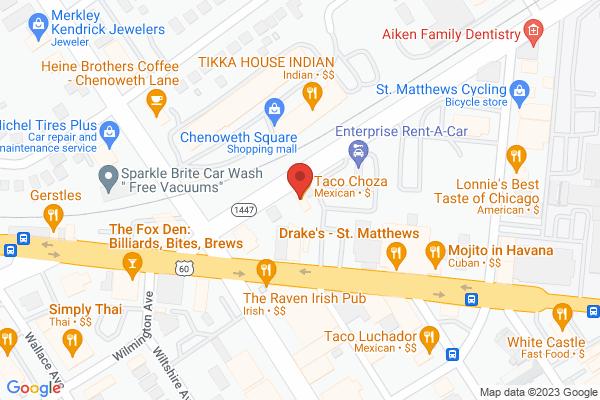 Mapped location of Taco Choza