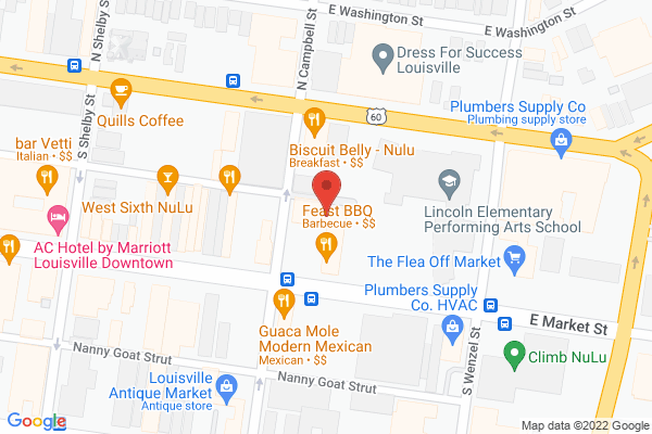 Mapped location of Signarama Louisville Downtown
