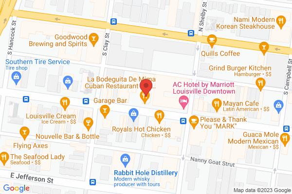 Mapped location of La Bodeguita de Mima