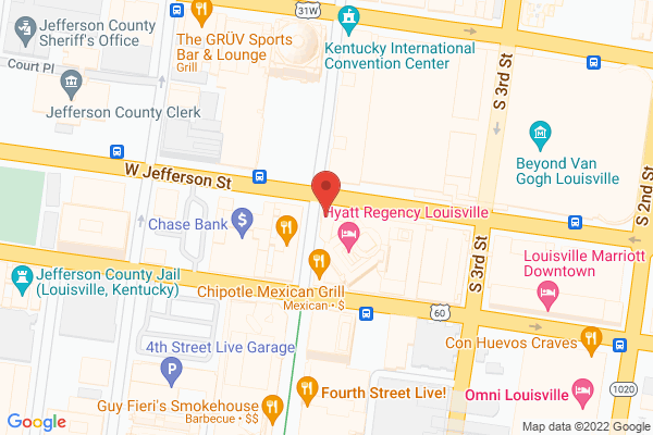 Mapped location of Louisville Visitor Center