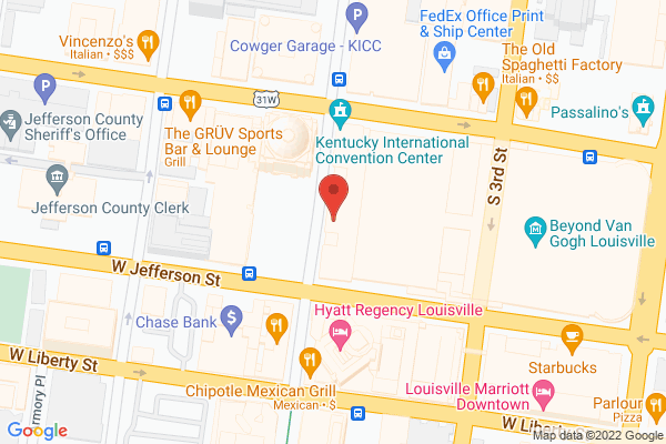 Mapped location of Kentucky International Convention Center (KICC)