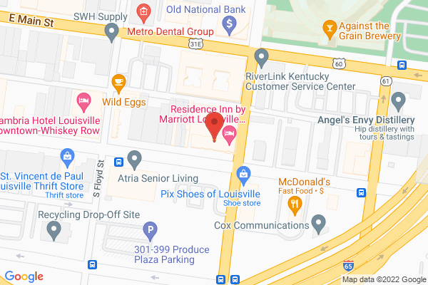 Mapped location of Residence Inn by Marriott Louisville Downtown