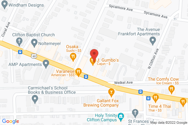 Mapped location of J. Gumbo's