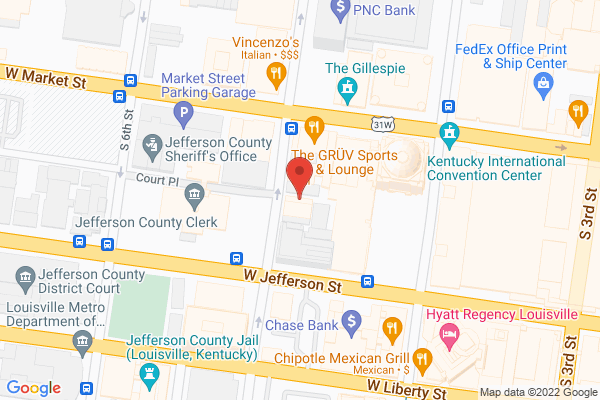Mapped location of Garden District Salads