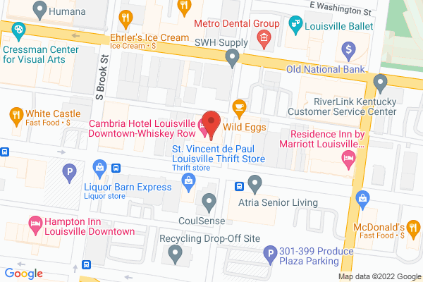 Mapped location of Cambria Hotel Louisville Downtown