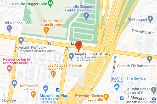 Mapped location of Angel's Envy Distillery