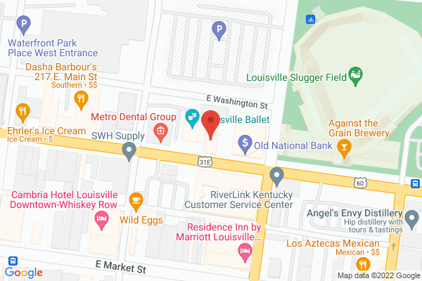 Mapped location of Louisville Ballet