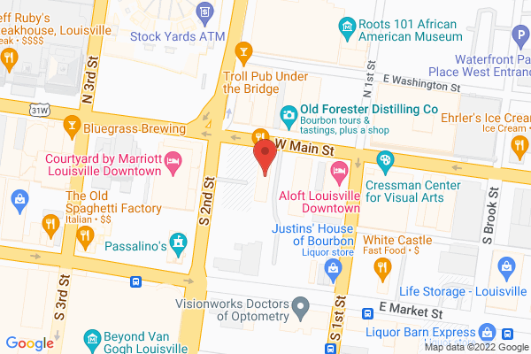 Mapped location of Merle's Whiskey Kitchen