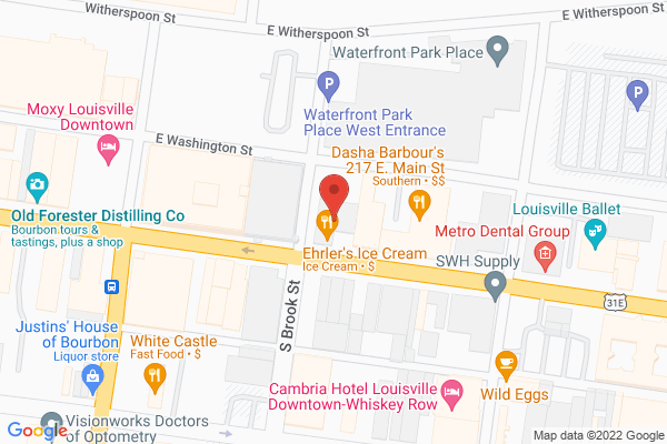 Mapped location of Ehrler's Ice Cream