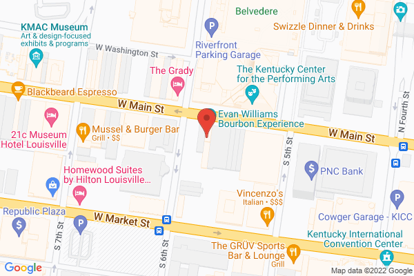Mapped location of Evan Williams Bourbon Experience