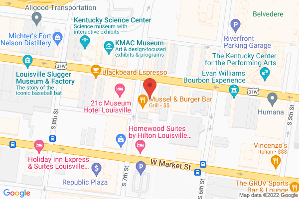 Mapped location of Mussel & Burger Bar