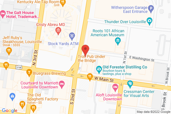 Mapped location of Sidebar at Whiskey Row