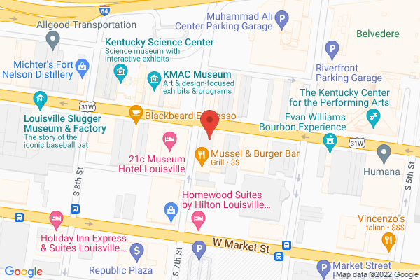 Mapped location of Brown-Forman Corporation