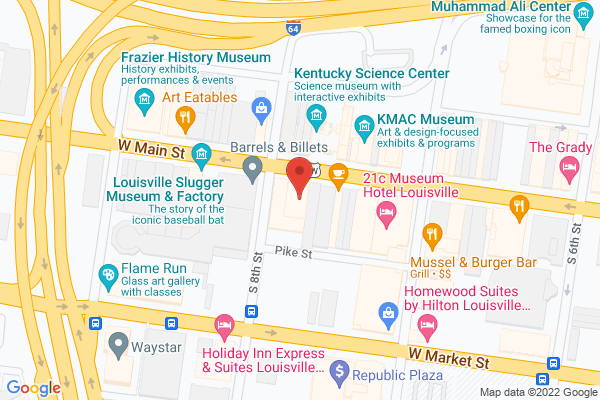 Mapped location of Leadership Louisville Center