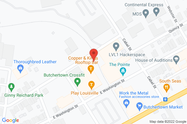 Mapped location of Copper & Kings American Brandy