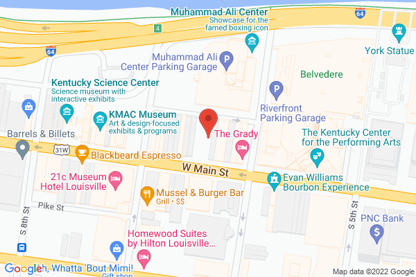 Mapped location of KMAC Poetry Slam
