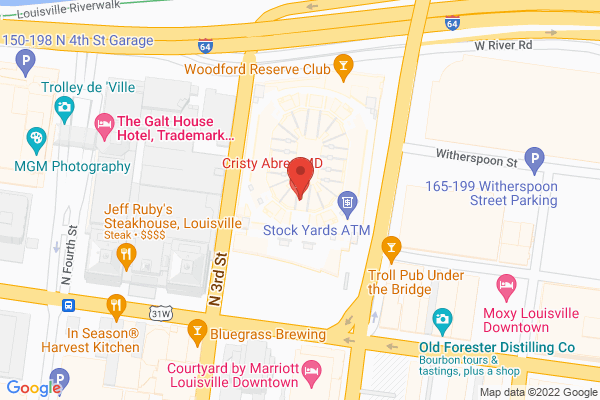 Mapped location of KFC Yum! Center