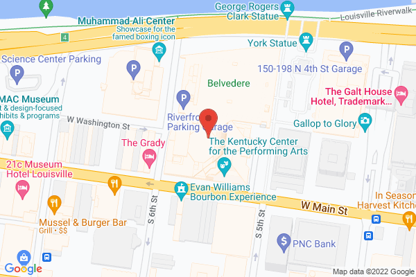 Mapped location of Kentucky Performing Arts