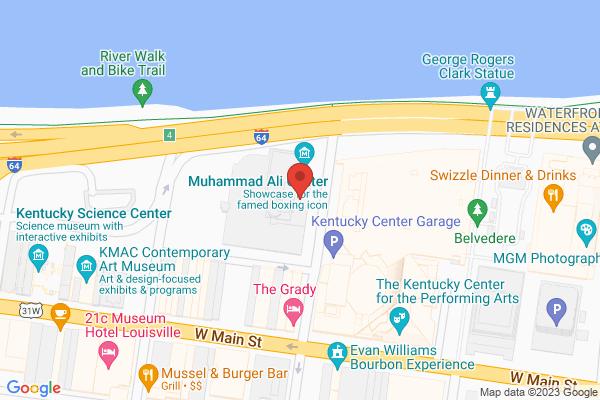 Mapped location of Muhammad Ali Center
