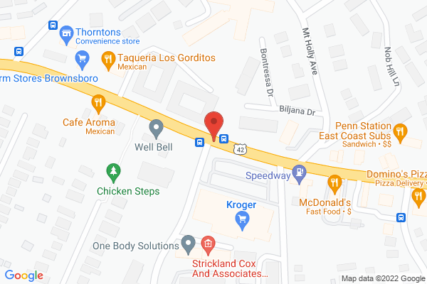 Mapped location of Great Wall