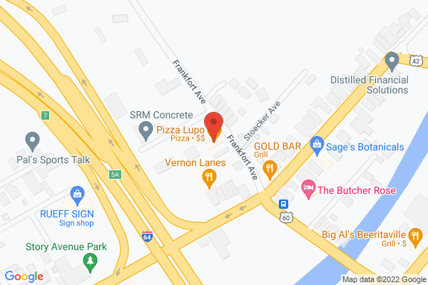 Mapped location of Pizza Lupo