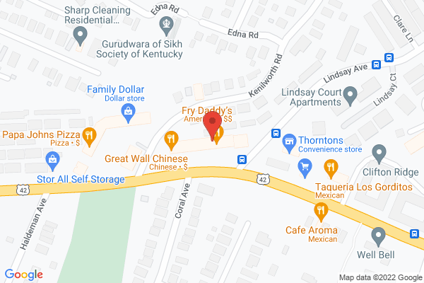 Mapped location of Fry Daddy's