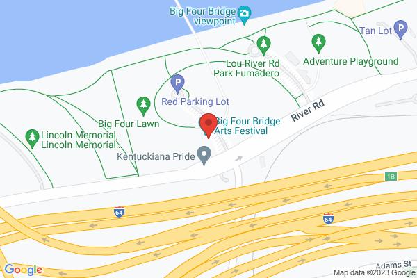 Mapped location of Big Four Bridge