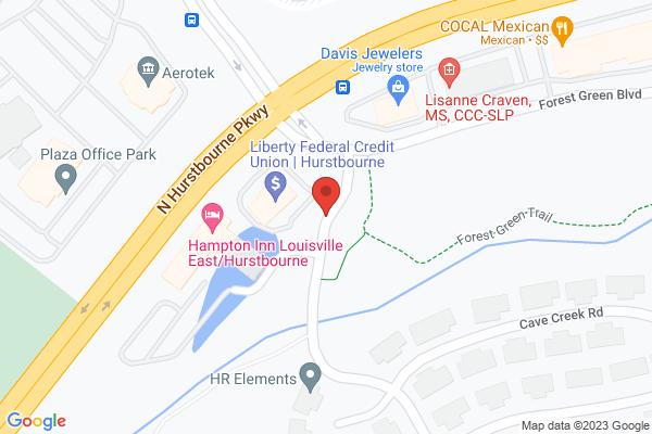 Mapped location of Hampton Inn Louisville East/Hurstbourne