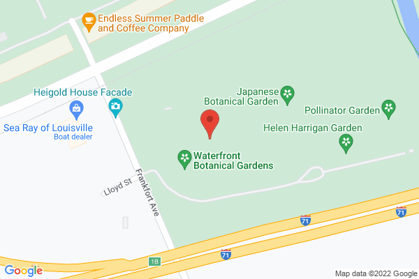 Mapped location of Waterfront Botanical Gardens