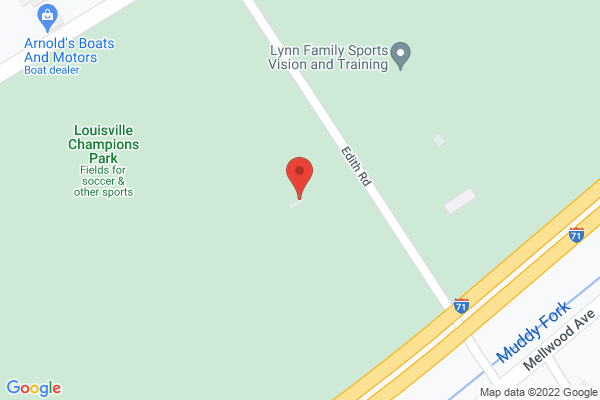 Mapped location of Louisville Champions Park