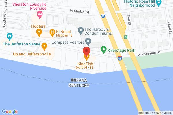Mapped location of Kingfish Restaurant